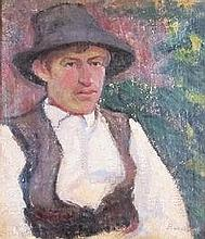 Margit Bencze (Hungarian, 1879 - ?): Boy with a hat