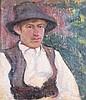 Margit Bencze (Hungarian, 1879 - ?): Boy with a hat