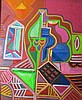 István János Kozma (Hungarian,1937 - ): Abstract composition