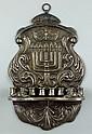 Russian silver wall mounted menorah