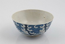 Chinese blue and white porcelain rice bowl