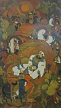 Persian artist (early 20th century): Death of a warrior