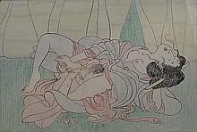 Japanese artist (circa 1900): Erotic scene