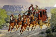 Western Artist: Ron Stewart, ?Cactus Run?, Water Color Painting, Signed Lower Left Hand Corner, a Detailed Remarque in The Lower Right,#746