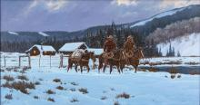 Western Artist: Ron Stewart, ?Breaking Light?, Oil Painting on Canvas, Signed Lower Left Hand Corner, #744