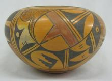 Native American Bowl : 1950's Traditional Hopi Bowl, by Ethel Youvella #250
