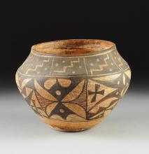 Antique Pottery : Native American Antique Acoma Pottery Jar #239