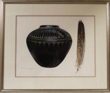 Western Artist, Lee Rommel ?Spirit? Water Color Painting, Ca 1985, 962