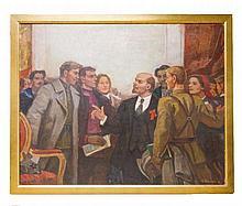RUSSIAN SCHOOL (XX) A Study of Lenin in a crowd^ s