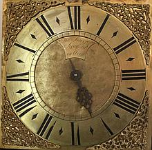 AN EARLY 18TH CENTURY BRASS FACED 30 HOUR LONGCASE