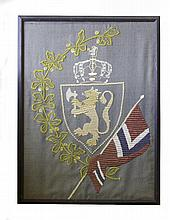 A FRAMED MILITARY TAPESTRY OF NORTH EUROPEAN ORIGI