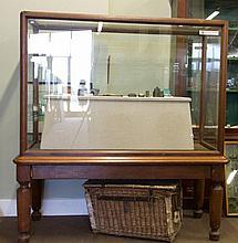 A LARGE 19TH CENTURY MAHOGANY FRAMED RECTANGULAR M