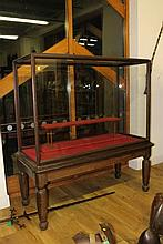 A LARGE VICTORIAN MAHOGANY FRAMED MUSEUM DISPLAY C