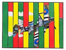 NICHOLAS DEDIC. A contemporary painting of a spitf