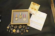 A COLLECTION OF ASSORTED MEDALS AND EPHEMERA^ to i