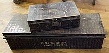 TWO PAINTED UNIFORM TINS^ both named to G. H. Hodg
