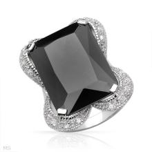 Gorgeous Ladies Cocktail Ring with 49.80ctw Cubic Zirconia in Sterling Silver