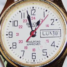 BULOVA Brand Swiss Quartz Movement Railroad Approved Watch.  Year: 1991 and in VERY GOOD Condition!