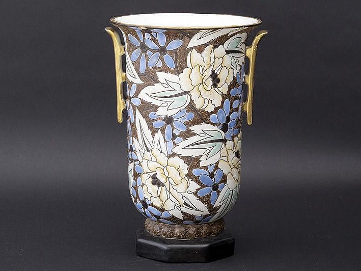 BFK (Boch frêres Keramis) urnvormige Art Deco-vaas
