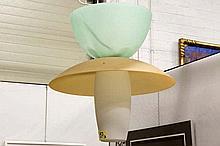 DORDONI RODOLFO (° 1954) designluster - model 'Musa' van 1994 - in glas gerealiseerd door Artemide  -  hoogte : 57 cm gemerkt