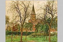 DE SMET LEON (1881 - 1966) aangenaam impressionistisch olieverfschilderij op doek :