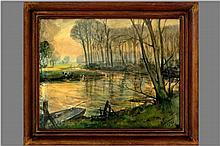 DE BONDT KAREL (1888 - 1973) aquarel :