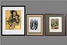 TYTGAT EDGARD (1879 - 1957) lot van : * tekening :