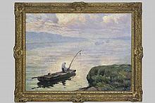 MAES JAN (1876 - 1974 / DENDERMONDSE SCHOOL) impressionistisch olieverfschilderij op doek :