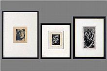 VERDEGEM JOS (1897 - 1957) drie (§) etsen (eigen druk) - n° 26/29 :