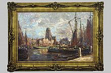 COURTENS BARON FRANZ (1850 - 1943) olieverfschild
