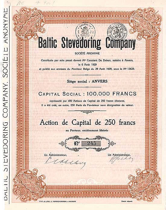 Baltic Stevedoring Co. S.A.
