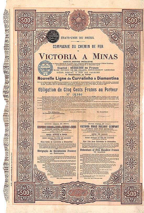 Cie. du Chemin de Fer Victoria a Minas S.A. (Victoria Minas Railway)