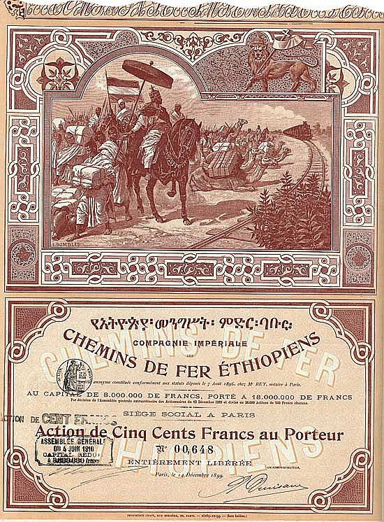 Cie. Impériale des Chemins de Fer Éthiopiens S.A.