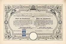 Loterie par classes de la Ville de Sofia garantie par la Principauté de Bulgarie S.A. (Klassenlotterie der Stadt Sofia)