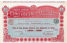 S.A. des Mines d'Or d'Ouspenski (Oural)