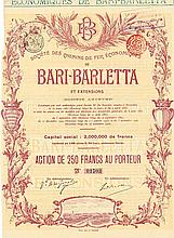 Société des Chemins de Fer Èconomiques de Bari-Barletta et Extensions S.A.