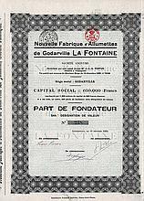 Nouvelle Fabrique d'Allumettes de Godarville LA FONTAINE S.A.