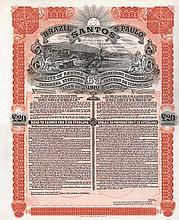 City of Santos 6 % Internal Sterling Loan of 1910
