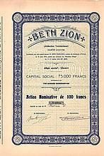 Beth Zion (Jüdisches Vereinshaus) S.A.