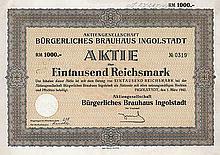 AG Bürgerliches Brauhaus Ingolstadt