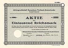 AG Kursachsen Portland-Zementwerke