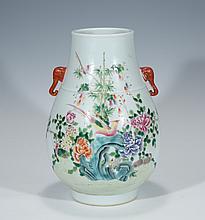 A FAMILLE-ROSE 'BIRD AND FLOWER' JAR