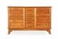 René GABRIEL (1890-1950) Bahut. Bois. 95 x 153 x 47 cm. Circa 1950. Commentaire : - Ce bahut fait partie du mobilier d'urgence vendu aux sinistrés de la seconde guerre mondiale.