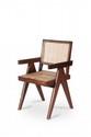 PIERRE JEANNERET (1896-1967) Paire de fauteuils dits Office cane chair. Teck, moelle de rotin. 87 x 48 x 50 cm. Circa 1955. Provenance : - Chandigarh, Inde.