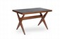 PIERRE JEANNERET (1896-1967) Table dite Judge lunch table. Teck. 71 x 114 x 68 cm. Circa 1955. Provenance : - Chandigarh, Inde.