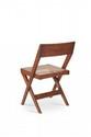 PIERRE JEANNERET (1896-1967) Suite de quatre chaises dites Cane seat wood back chair. Teck et moelle de rotin. 74 x 47 x 50 cm. Circa 1959. Provenance : - Chandigarh, Inde.