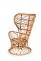 Gio PONTI (1891-1979) & LIO CARMINAT I Grand fauteuil. Rotin. 120.5 x 74 x 75 cm. Vittorio Bonacina, circa 1950. Provenance : - Aménagement pour le paquebot Conte Biancamaro. Bibliographie : - Ugo La Pietra, Gio Ponti, Rizzoli, 2009, modèle similaire