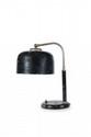 TRAVAIL MODERNISTE Lampe de bureau. Tôle, acier (système électrique manquant). H. : 33 cm. Circa 1935.