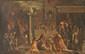 Ecole française du XVIIème siècle d'après RAPHAEL (1483-1520) L'incendie de Borgo. Toile. 106 x 170 cm.