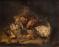 Felice BOSELLI (1650-1732) Attribué à Nature morte aux oiseaux. Toile d'origine. 51 x 67 cm.